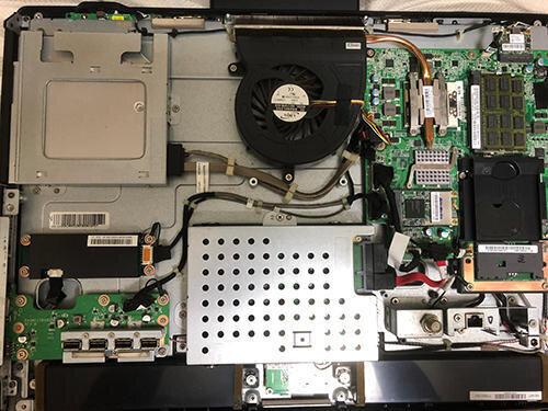 NEC 一体型パソコン HDDからSSD換装